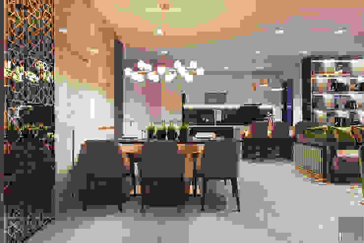 THIẾT KẾ NỘI THẤT CĂN HỘ VINHOMES GOLDEN RIVER – Sang trọng – Đẳng cấp Phòng ăn phong cách hiện đại bởi ICON INTERIOR Hiện đại
