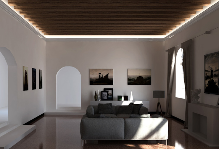 Cornice per led classica a soffitto - EL701 Eleni Lighting Soggiorno in stile rustico