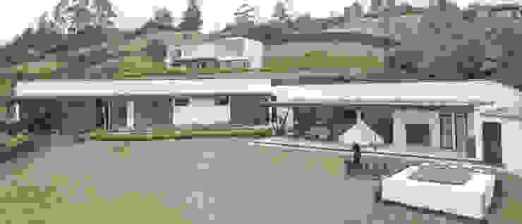 CASA PRADERA VISTA FRONTAL de Andrés Hincapíe Arquitectos A H A Minimalista