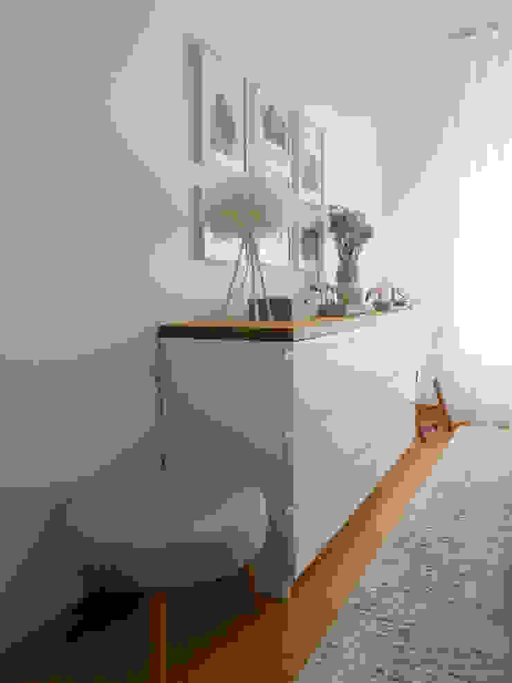 Quarto de Casal | Depois Quartos escandinavos por MUDA Home Design Escandinavo