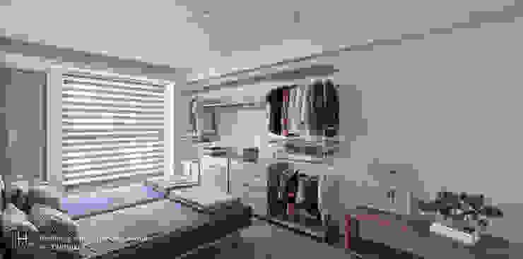 Minimalist bedroom by SECONDstudio Minimalist Solid Wood Multicolored