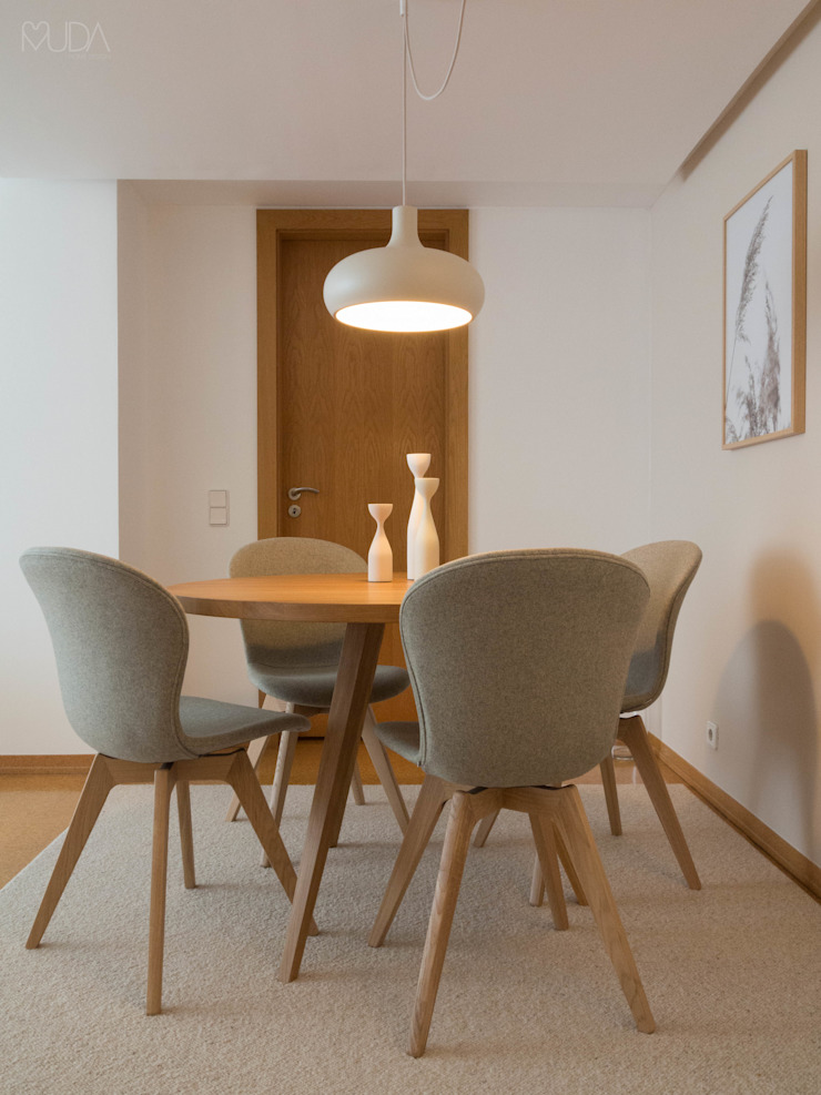 Scandinavian style dining room by MUDA Home Design Scandinavian