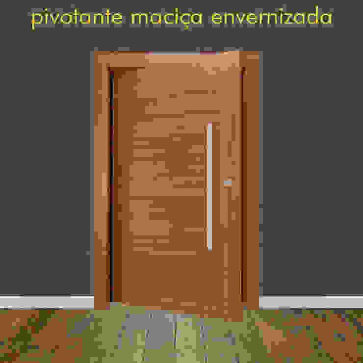 rustic  by Portas Jaraguá, Rustic Solid Wood Multicolored