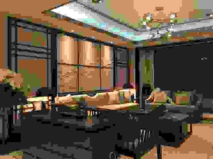 北京大尺概念/柏品設計(台北) 客廳 金屬 Beige