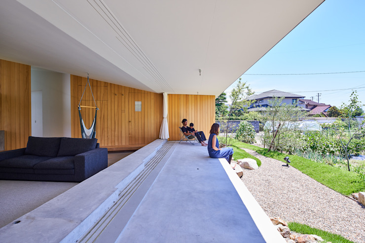 GODO 神戸町の平屋 武藤圭太郎建築設計事務所 モダンな庭