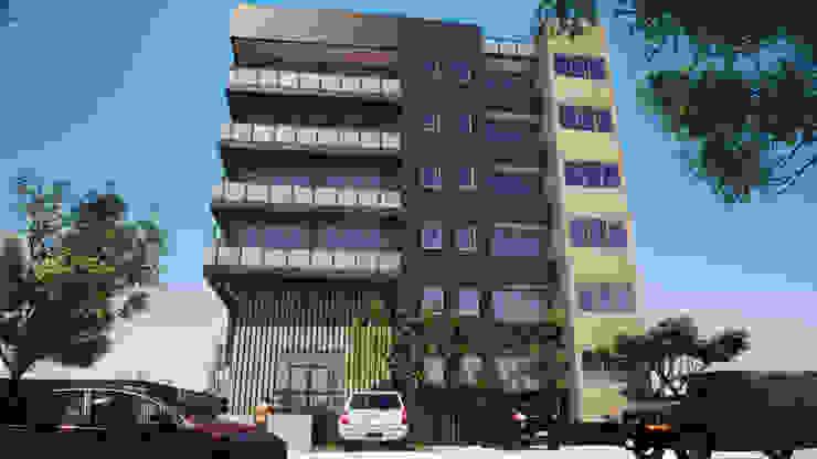 Torre Alma Exterior: Casas de madera de estilo  por Trignum Arquitectura,
