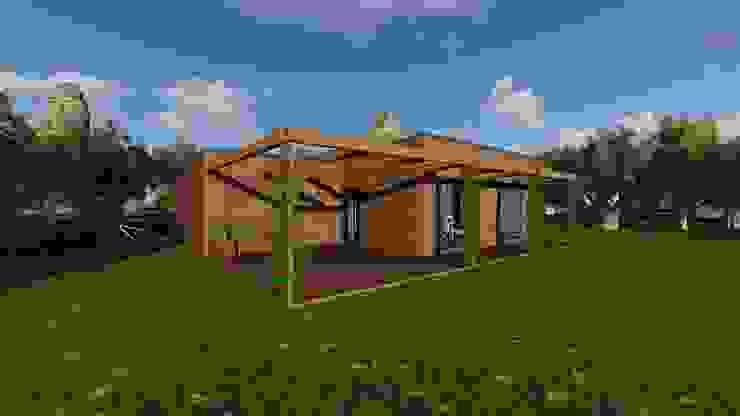 Modelo | T2 123m² Discovercasa | Casas de Madeira & Modulares Casas de madeira Madeira Acabamento em madeira