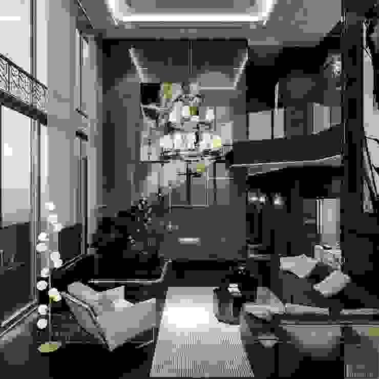 Azjatycki salon od ICON INTERIOR Azjatycki