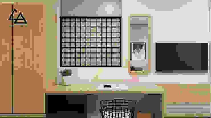 Working space Phòng giải trí phong cách Bắc Âu bởi G.A Studio Bắc Âu