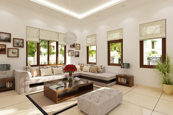Nội thất mang phong cách cổ điển. Phòng khách phong cách kinh điển bởi Công ty TNHH TK XD Song Phát Kinh điển Đá hoa