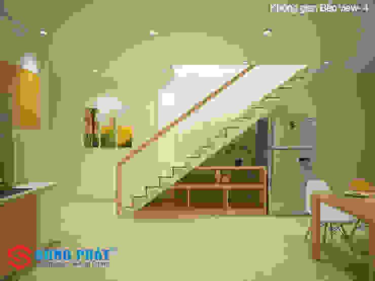 Chiêm ngưỡng thiết kế nội thất trẻ trung bên trong nhà phố 5 tầng bởi Công ty TNHH TK XD Song Phát Hiện đại Đá hoa