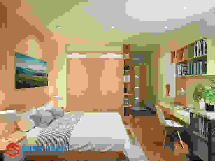 Sử dụng nội thất thông minh giúp bạn tăng diện tích sử dụng trong căn phòng. Phòng ngủ phong cách hiện đại bởi Công ty TNHH TK XD Song Phát Hiện đại Đá hoa