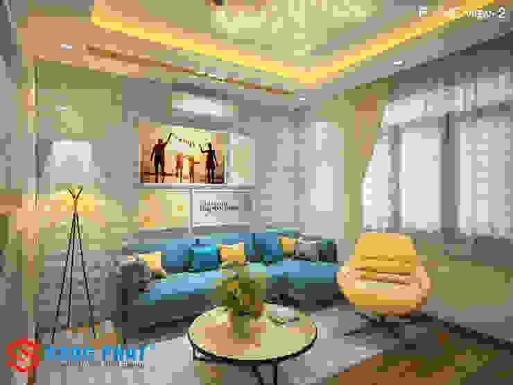 Chiêm ngưỡng thiết kế nội thất trẻ trung bên trong nhà phố 5 tầng bởi Công ty TNHH TK XD Song Phát Hiện đại MDF