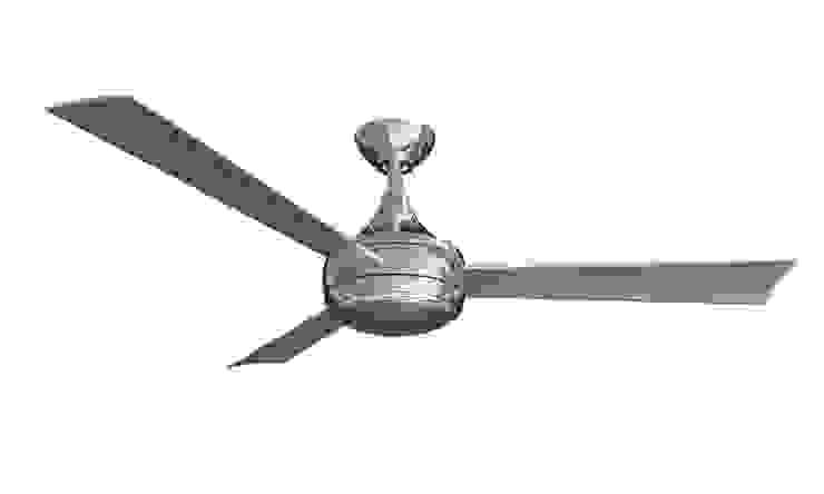 CASA BRUNO Donaire ventilador de techo con luz, acero inoxidable cepillado, para zonas mojadas de Casa Bruno American Home Decor Minimalista Hierro/Acero