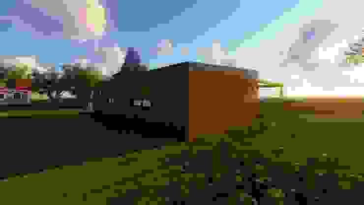 Modelo | T2 123m² por Discovercasa | Casas de Madeira & Modulares Moderno Madeira maciça Multicolor
