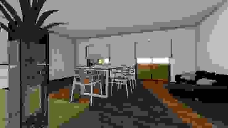 Modelo | T2 123m² por Discovercasa | Casas de Madeira & Modulares Moderno Madeira Acabamento em madeira
