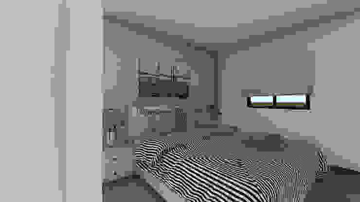 Modelo | T2 123m² Casas modernas por Discovercasa | Casas de Madeira & Modulares Moderno Madeira Acabamento em madeira