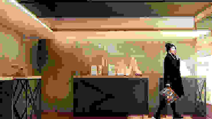 展示空間一角示意圖 / Exhibition Design Modern corridor, hallway & stairs by Redblade Design / 刀赤空間設計工作室 Modern Wood Wood effect
