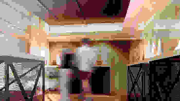 展示空間一角示意圖 / Exhibition Design 現代風玄關、走廊與階梯 根據 Redblade Design / 刀赤空間設計工作室 現代風 木頭 Wood effect