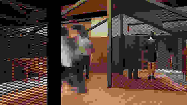 意象視覺化 / Image Visualization Modern corridor, hallway & stairs by Redblade Design / 刀赤空間設計工作室 Modern Iron/Steel