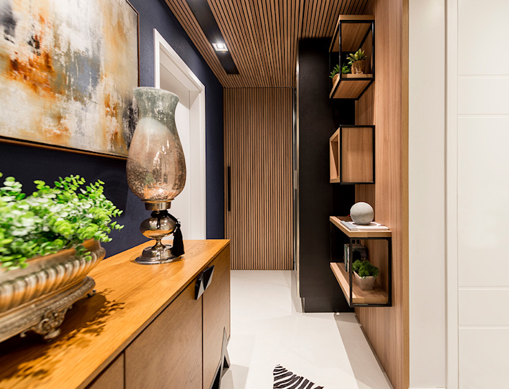 Hall de entrada Corredores, halls e escadas modernos por Espaço do Traço arquitetura Moderno