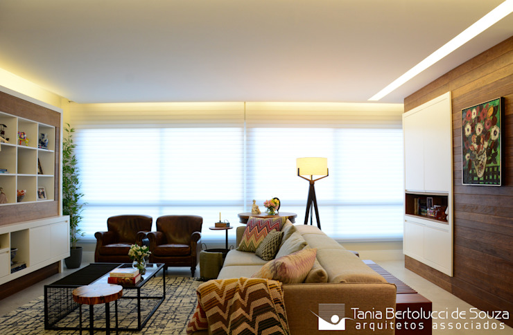 Sala de Estar Salas de estar modernas por Tania Bertolucci de Souza | Arquitetos Associados Moderno