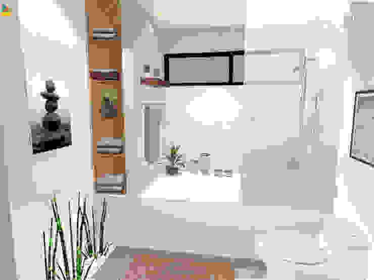 Detalle de tina de baño principal Gaby Cons Deco & Handmade Baños eclécticos