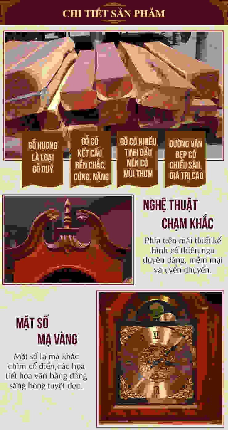 Nghệ thuật chạm khắc tinh tế: mộc mạc  by Cửa hàng bán đồng hồ cây gỗ cao cấp ở Hà Nội, Mộc mạc