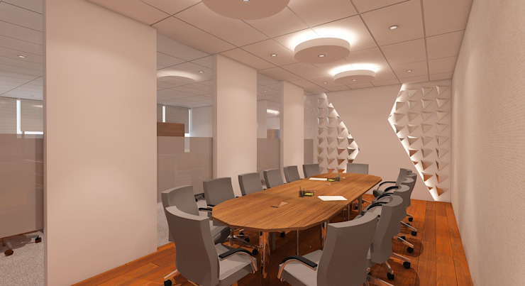 MEETING Ruang Studi/Kantor Modern Oleh IFAL arch Modern Kayu Wood effect