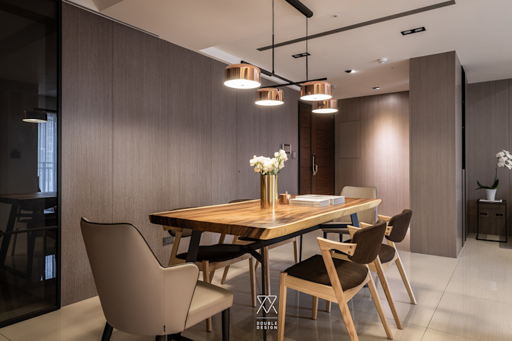 双設計建築室內總研所 Modern dining room