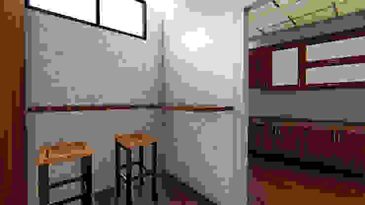 KEMENKES OFFICE Ruang Makan Minimalis Oleh IFAL arch Minimalis Kayu Wood effect