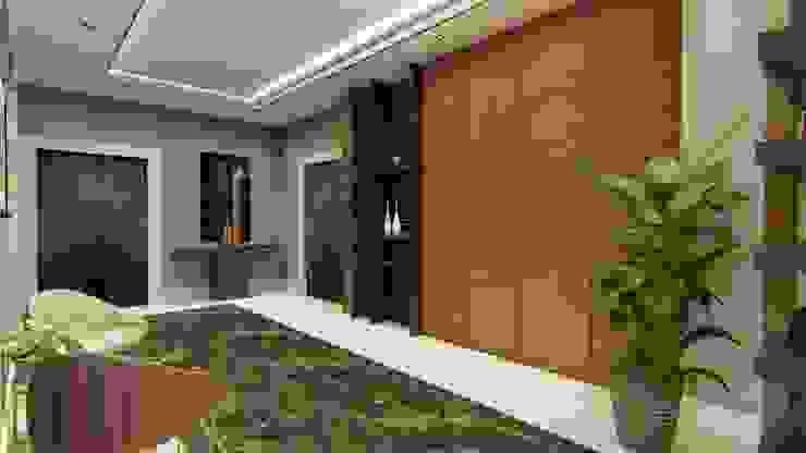 A.A MALİKANESİ KUVEYT - KUWAIT MANSION HOUSE Sonraki Mimarlık Mühendislik İnş. San. ve Tic. Ltd. Şti. Modern Koridor, Hol & Merdivenler