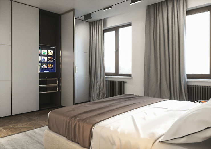 : Спальни в . Автор – ANARCHY DESIGN, Эклектичный Изделия из древесины Прозрачный