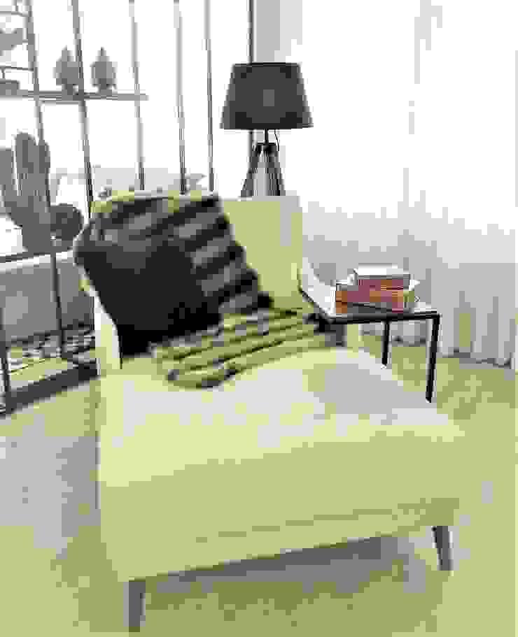 Chaise com 2 braços por Sgabello Interiores Moderno Algodão Vermelho