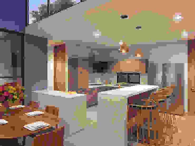 cocina de SRA arquitectos Moderno Madera Acabado en madera