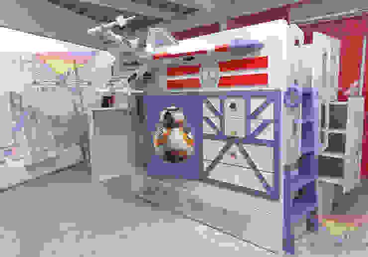 Increíble cama estilo X-wing de Kids Wolrd- Recamaras Literas y Muebles para niños Clásico Derivados de madera Transparente