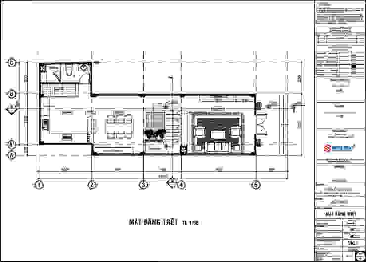 Mặt bằng tầng trệt nhà 3 tầng by Công ty Thiết Kế Xây Dựng Song Phát Asian