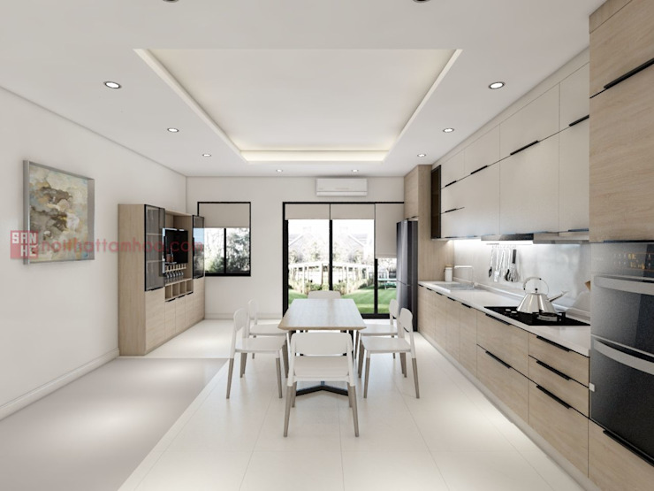 Nội thất Tam Hòa Office spaces & stores Copper/Bronze/Brass White