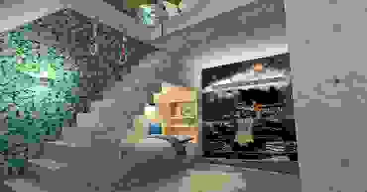 Zolder met mezzanine als stoere kinderkamer: modern  door Stefania Rastellino interior design, Modern