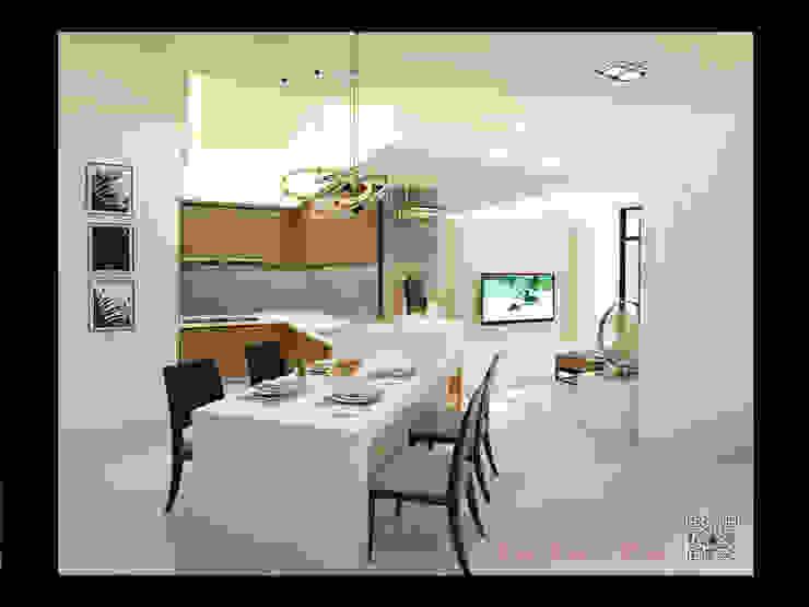 Salle à manger moderne par 艾莉森 空間設計 Moderne