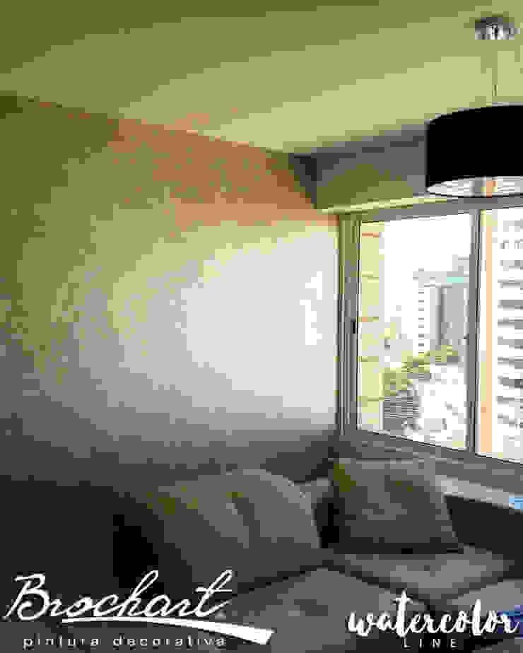 Técnica Esfumado © Brochart pintura decorativa Paredes y pisosRevestimientos de paredes y pisos