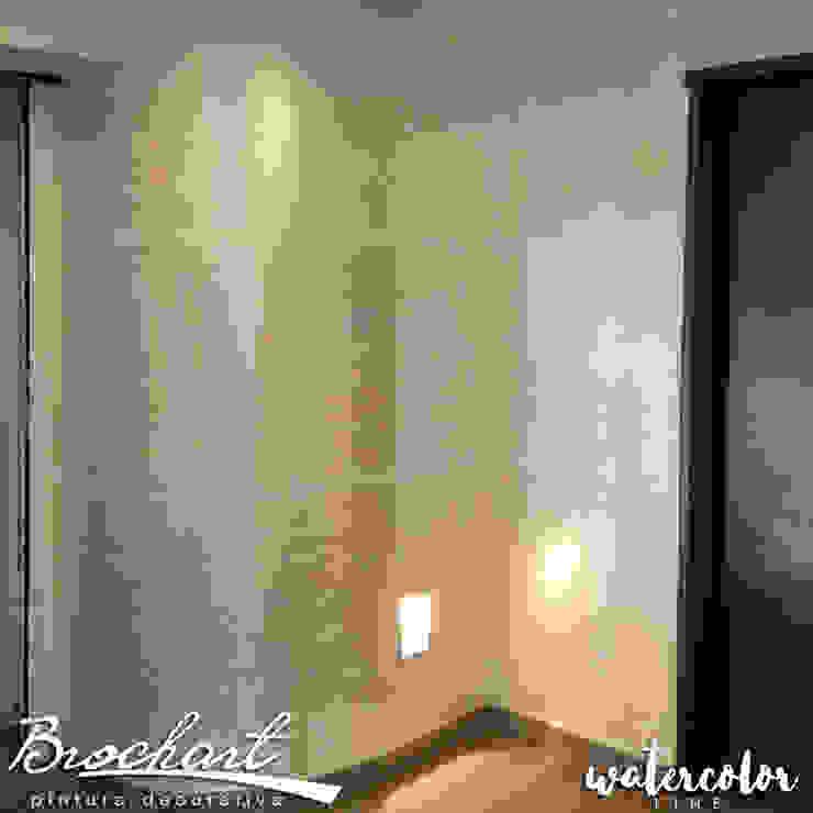 Técnica Estriado Acuarela © Brochart pintura decorativa Paredes y pisosRevestimientos de paredes y pisos