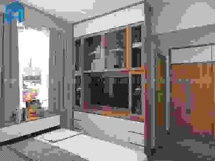 Kệ tivi Phòng ngủ Phòng ngủ phong cách châu Á bởi Công ty TNHH Nội Thất Mạnh Hệ Châu Á