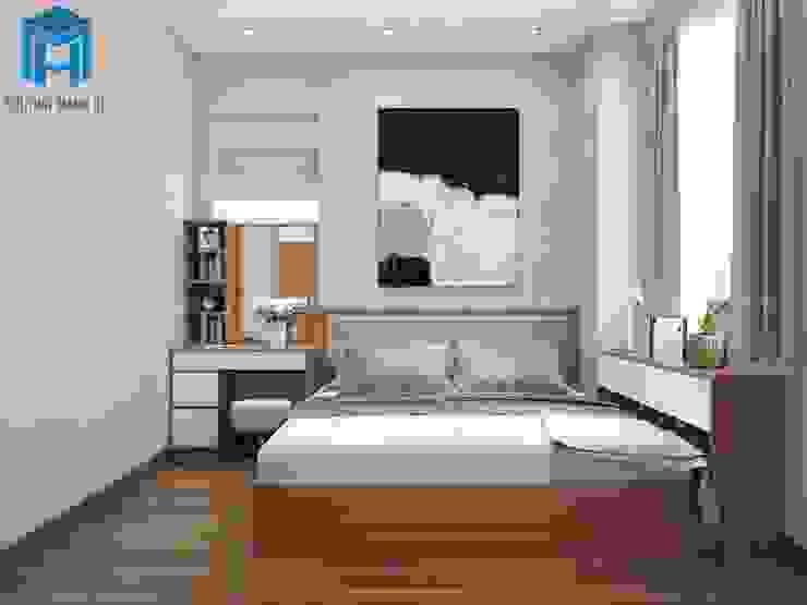 Mẫu Thiết Kế Nội Thất Phòng Ngủ 1 Phòng khách phong cách châu Á bởi Công ty TNHH Nội Thất Mạnh Hệ Châu Á