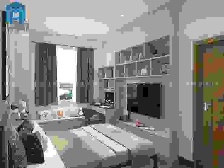 Kệ Tivi Nội Thất Phòng Ngủ 2 Phòng khách phong cách châu Á bởi Công ty TNHH Nội Thất Mạnh Hệ Châu Á