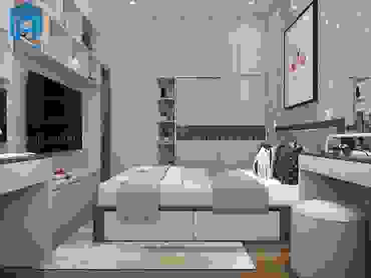 Không Gian Nội Thất Phòng Ngủ 2 Phòng khách phong cách châu Á bởi Công ty TNHH Nội Thất Mạnh Hệ Châu Á