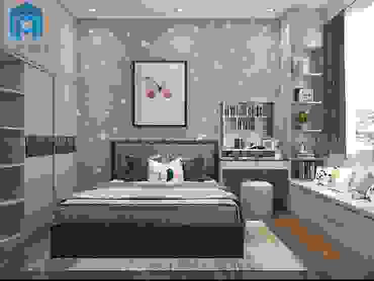 Thiết Kế Nội Thất Phòng Ngủ 2 Phòng khách phong cách châu Á bởi Công ty TNHH Nội Thất Mạnh Hệ Châu Á
