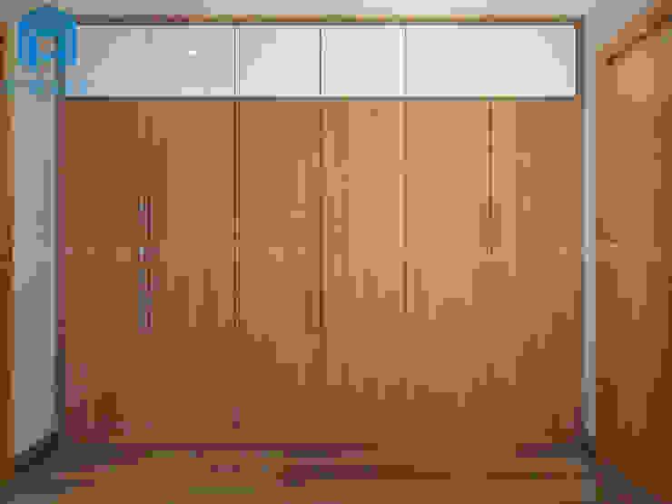Tủ Quần Áo Cho Phòng Ngủ Phòng ngủ phong cách châu Á bởi Công ty TNHH Nội Thất Mạnh Hệ Châu Á