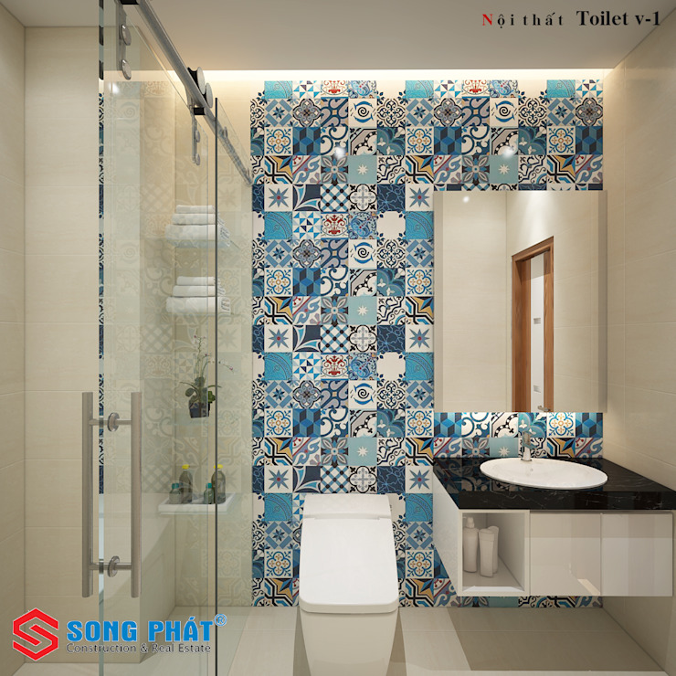 Asian style bathroom by Công ty Thiết Kế Xây Dựng Song Phát Asian