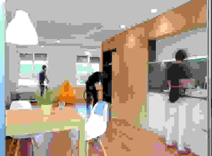Vivienda para un músico Comedores de estilo moderno de Loft 26 Moderno Madera Acabado en madera
